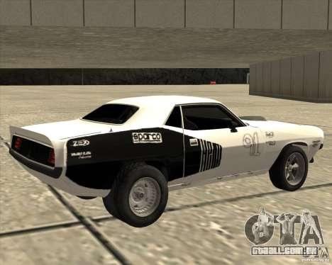Plymouth Hemi Cuda Rogue para GTA San Andreas esquerda vista