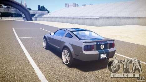 Shelby GT500kr para GTA 4 vista direita