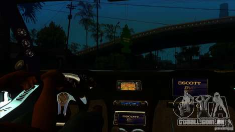 Honda NSX Extreme para GTA San Andreas vista interior