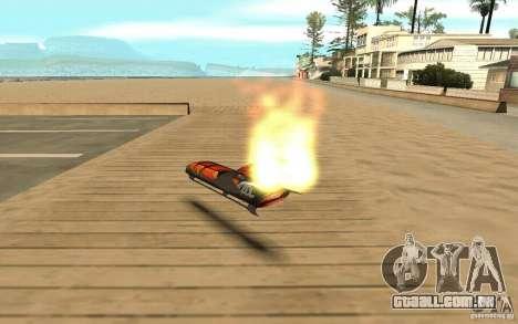 Hoverboard para GTA San Andreas traseira esquerda vista