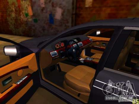 BMW Alpina B7 para GTA San Andreas vista interior