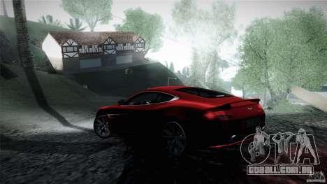 Aston Martin Vanquish V12 para GTA San Andreas traseira esquerda vista