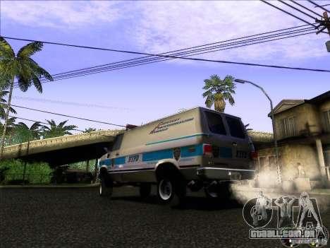Chevrolet VAN G20 NYPD SWAT para GTA San Andreas traseira esquerda vista
