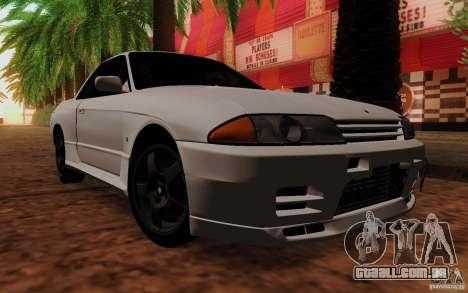 Nissan Skyline GT-R R32 1993 Tunable para GTA San Andreas traseira esquerda vista