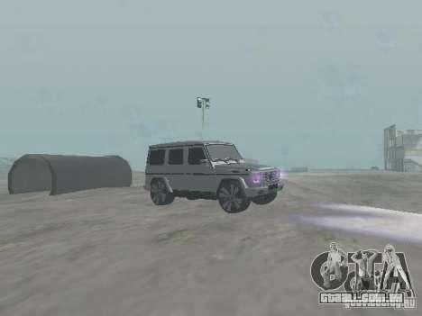 Mercedes-Benz G500 Kromma 1480 para GTA San Andreas vista traseira