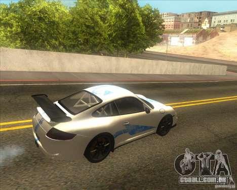 Porsche 997 GT3 RS para GTA San Andreas vista traseira