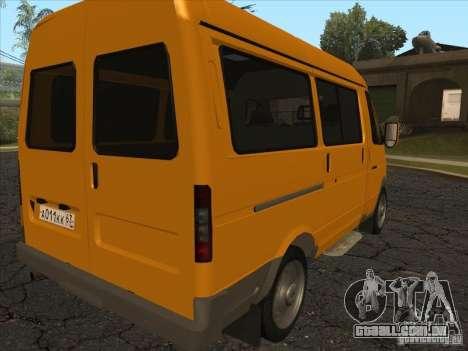 GAZ 22171 Sable para GTA San Andreas traseira esquerda vista