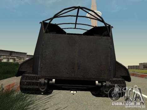 GW Typ E para GTA San Andreas traseira esquerda vista