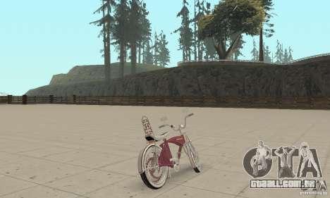Lowrider Bicycle Custom Version para GTA San Andreas esquerda vista