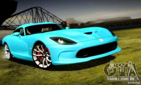 Dodge Viper SRT  GTS para GTA San Andreas esquerda vista