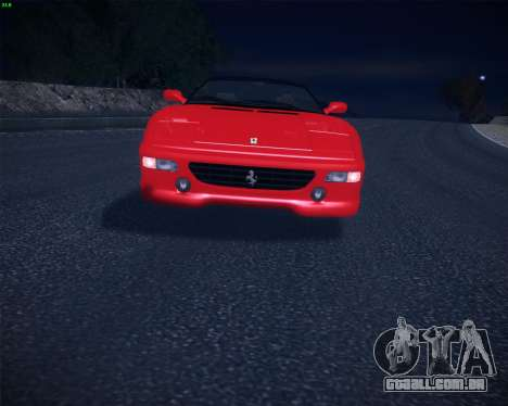 Ferrari F355 Spyder para GTA San Andreas vista direita