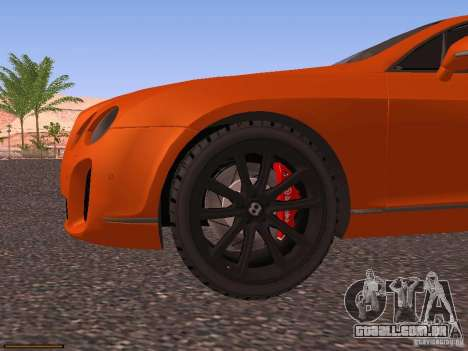 Bentley Continetal SS Dubai Gold Edition para GTA San Andreas vista superior