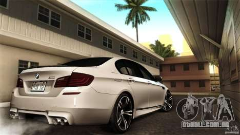 BMW M5 F10 2012 para GTA San Andreas vista traseira