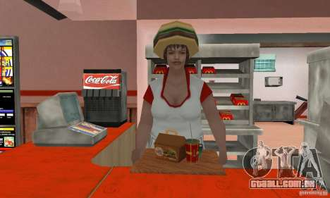 Restaurantes McDonals para GTA San Andreas oitavo tela