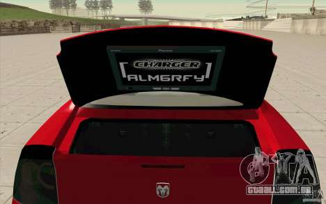 Dodge Charger RT 2010 para GTA San Andreas vista traseira