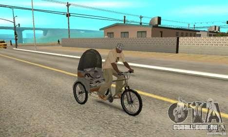 Manual Rickshaw v2 Skin1 para GTA San Andreas vista direita