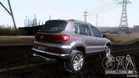 Volkswagen Tiguan 2012 para GTA San Andreas traseira esquerda vista