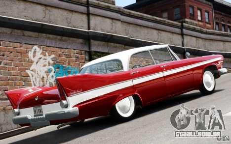 Plymouth Belvedere Sport Sedan 1957 para GTA 4 vista direita