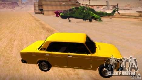 VAZ 2107 para GTA San Andreas vista superior