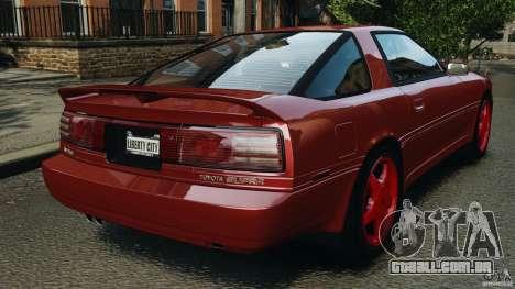 Toyota Supra 3.0 Turbo MK3 1992 v1.0 [EPM] para GTA 4 traseira esquerda vista