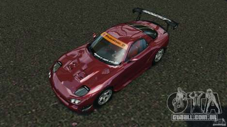 Mazda RX-7 RE-Amemiya v2 para GTA 4 vista superior