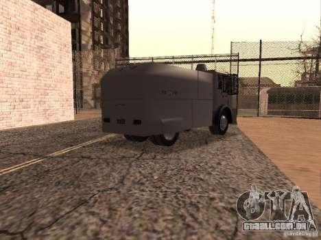 Um canhão de água polícia Rosenbauer para GTA San Andreas vista direita