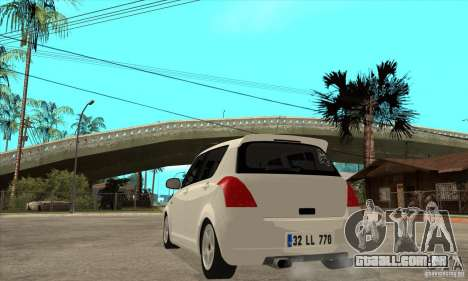 Suzuki Swift 4x4 CebeL Modifiye para GTA San Andreas traseira esquerda vista
