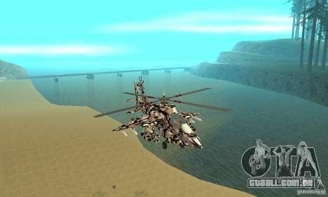 Hydra Hunter para GTA San Andreas vista traseira