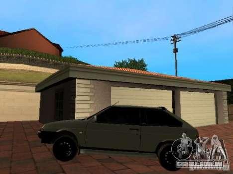 VAZ 2108 Gangsta Edition para GTA San Andreas traseira esquerda vista