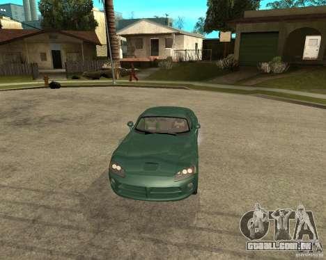 Dodge Viper Srt 10 para GTA San Andreas vista traseira