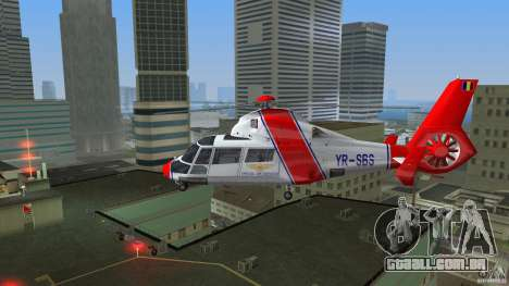Eurocopter As-365N Dauphin II para GTA Vice City vista direita