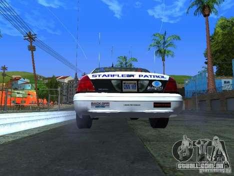 Ford Crown Victoria Police Interceptor 2008 para GTA San Andreas vista direita