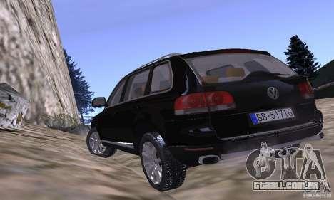 Volkswagen Touareg para GTA San Andreas vista interior
