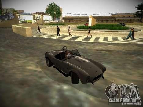 Shelby Cobra para GTA San Andreas vista traseira