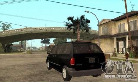 Dodge Caravan 1996 para GTA San Andreas traseira esquerda vista
