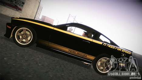 Shelby GT500 Terlingua para GTA San Andreas traseira esquerda vista