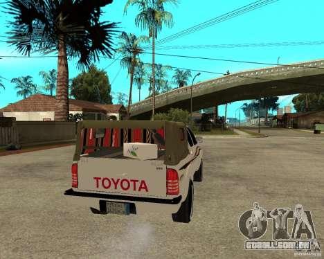 Toyota Hilux 2010 para GTA San Andreas traseira esquerda vista