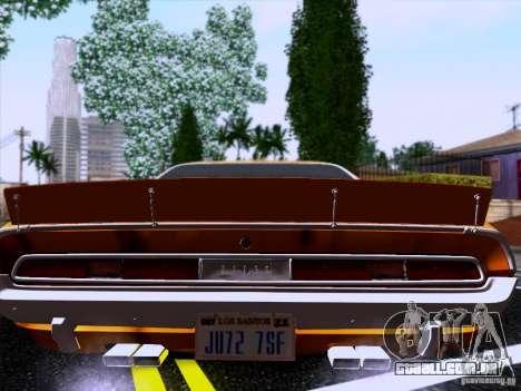 Dodge Challenger HEMI para GTA San Andreas esquerda vista