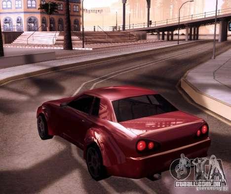 Elegy Wide Body para GTA San Andreas vista direita