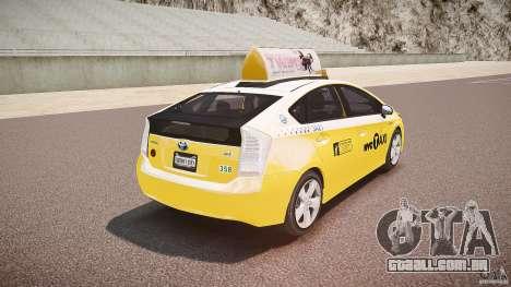 Toyota Prius NYC Taxi 2011 para GTA 4 vista inferior