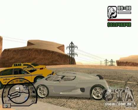 Koenigsegg CC8S para GTA San Andreas vista traseira