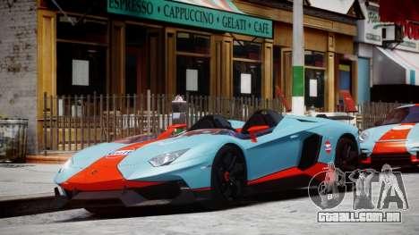 Lamborghini Aventador J 2012 Gulf para GTA 4 esquerda vista