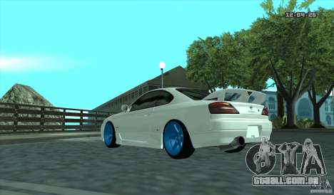 Nissan Silvia S15 Stance para GTA San Andreas traseira esquerda vista