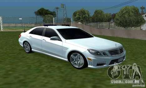 Mercedes-Benz E63 DPS para GTA San Andreas vista traseira