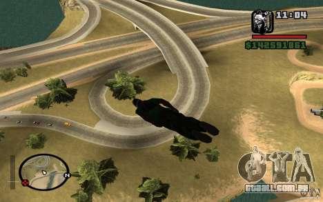 O novo pára-quedas para GTA San Andreas por diante tela