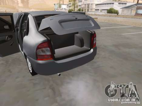 LADA Kalina sedan para GTA San Andreas vista superior
