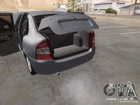 LADA Kalina sedan para GTA San Andreas vista superior
