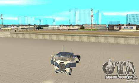 White Freightliner Extended Wheel Base para GTA San Andreas vista traseira