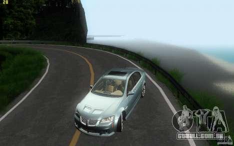 Pontiac G8 GXP 2009 para GTA San Andreas vista superior