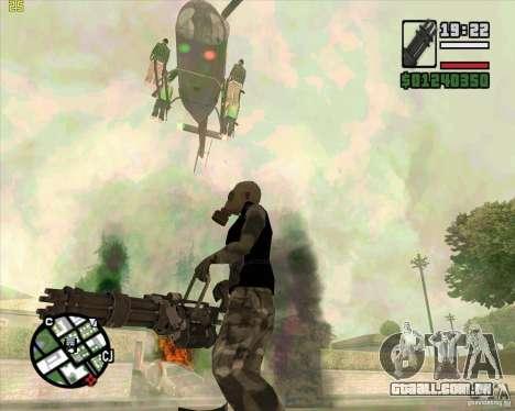 Minigun de Call of Duty Black Ops para GTA San Andreas terceira tela